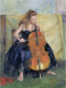 The Cello Player, 1995 by Karen Armitage