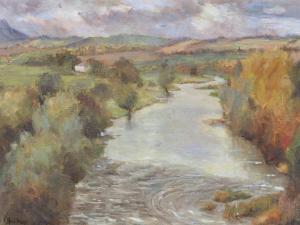 The River Tweed, Roxburghshire, 1995 by Karen Armitage