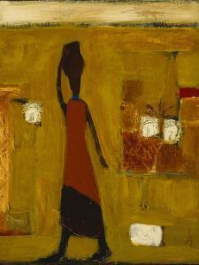 Walking Woman with Water Pot by Karen Bezuidenhout