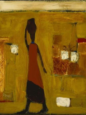 Walking Woman with Water Pot