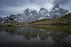 Baita Segantini, Dolomites, Italy by Karen Deakin