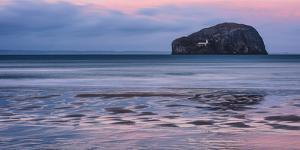 Bass Rock at Sunset, Scotland, United Kingdom, Europe by Karen Deakin