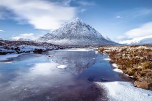 Buachaille Etive Mor and River Coupall, Glen Coe (Glencoe), Highland Region, Scotland, U.K. by Karen Deakin
