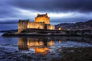 Eilean Donan (Eilean Donnan) Castle, Dornie, Highlands Region, Scotland, United Kingdom, Europe by Karen Deakin