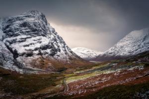 Glencoe in winter, Highland Region, Scotland, United Kingdom, Europe by Karen Deakin