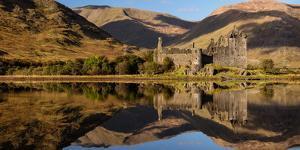 Kilchurn Castle Reflected in Loch Awe, Strathclyde, Scotland, United Kingdom, Europe by Karen Deakin