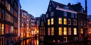 Lights of Amsterdam, The Netherlands, Europe by Karen Deakin