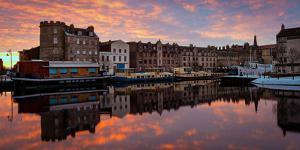 The Shore at Sunrise, Leith, Edinburgh, Scotland, United Kingdom, Europe by Karen Deakin