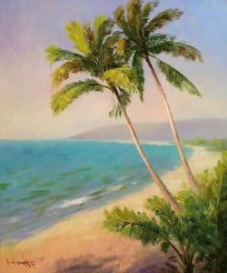 Palms On The Beach I by Karen Dupré