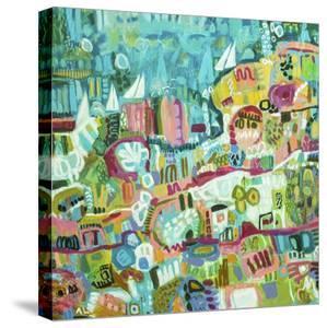 Abstract Marina III by Karen  Fields