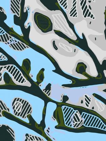 Abstract Tree Limbs I by Karen Fields