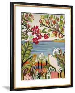 Birds in the Garden II by Karen  Fields