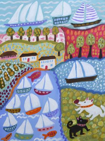 Dogs & Sailboats by Karen Fields