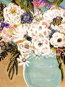 Summer Flowers in a Vase I by Karen  Fields