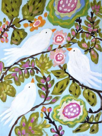 Sweet Love Birds I by Karen Fields