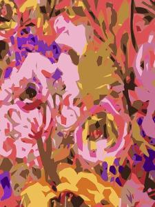 Warm Abstract Floral II by Karen  Fields