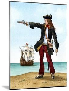 Anne Bonny, C1698, Irish Pirate by Karen Humpage