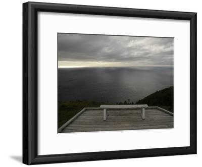 A Solitary Bench Above the Atlantic Ocean