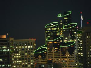 San Diego High Rises Brightly Lit at Night by Karen Kasmauski