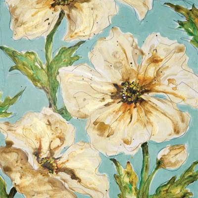Blue Floral I by Karen Leibrick