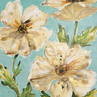 Blue Floral II by Karen Leibrick