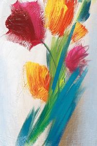 Bright Tulip Bunch I by Karen Lorena Parker