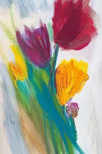 Bright Tulip Bunch II by Karen Lorena Parker