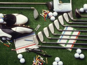 Collection of Golf Equipment; Shoes, Clubs, Etc by Karen M. Romanko
