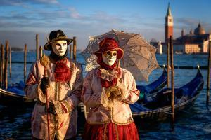 Models of the Venice Carnival, Venice, UNESCO World Heritage Site, Veneto, Italy, Europe by Karen McDonald