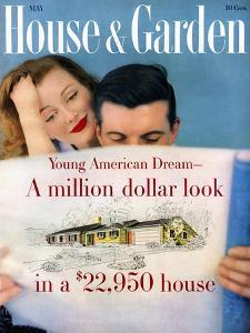 House & Garden Cover - May 1958 by Karen Radkai