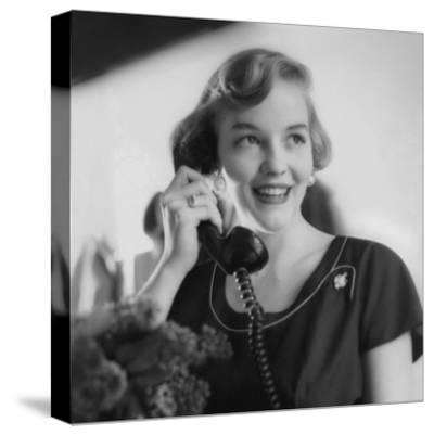 Vogue - August 1953 - Woman Talking on Telephone