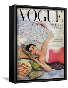 Vogue Cover - July 1954 - Beach Babe by Karen Radkai