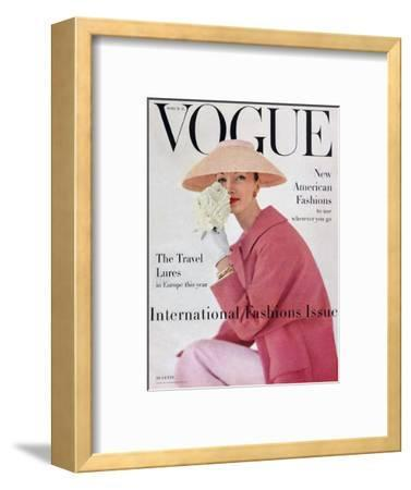 Vogue Cover - March 1956 - Pretty in Pink