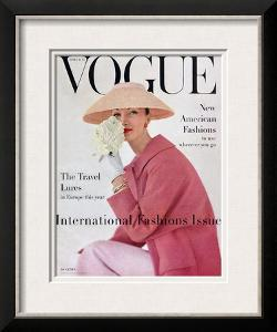 Vogue Cover - March 1956 by Karen Radkai