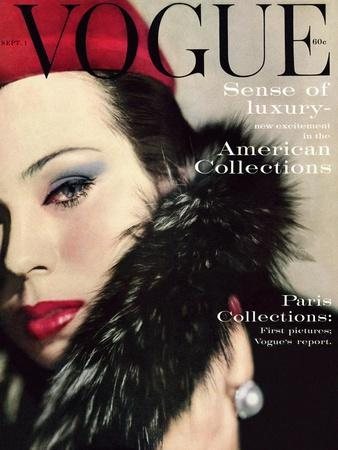 Vogue Cover - September 1959 - Fur Collar