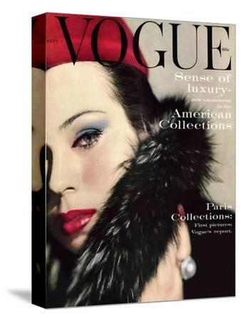 Vogue Cover - September 1959 - Fur Collar