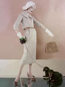 Vogue - February 1957 by Karen Radkai