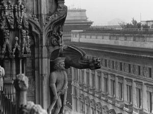Sculpture Detail on Exterior of Il Duomo by Karen Tweedy-Holmes