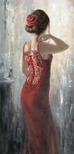 Red Lace, Red Rose by Karen Wallis