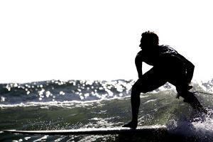 Surfing Silhouette I by Karen Williams