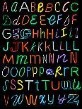 Letters Of The Alphabet Made From Neon Signs-Karimala-Art Print
