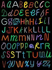 Letters Of The Alphabet Made From Neon Signs by Karimala
