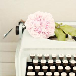 Typewriter and Rose by Karin A photography