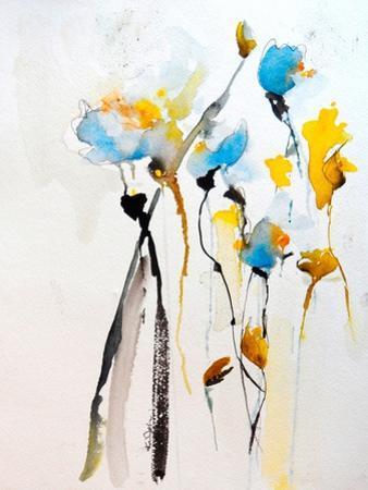 Blue Flowers II by Karin Johannesson