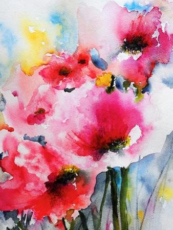 Summer Poppies II by Karin Johannesson