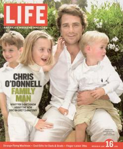Portrait of Actor Chris O'Donnell and his Three Children at Home, June 16, 2006 by Karina Taira