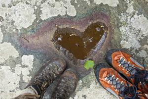 A Natural Pool of Rainwater Forms the Shape of a Heart in Shenandoah National Park, Virginia by Karine Aigner
