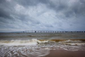 Bay Bridge Connects Mainland Of The Chesapeake Bay Watershed Area To Eastern Shores, Annapolis, MD by Karine Aigner