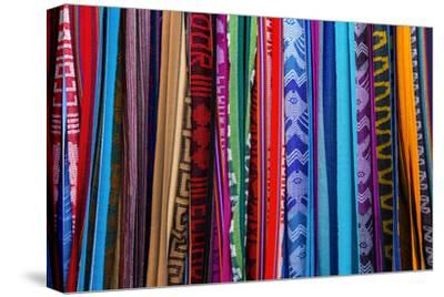 Cloths, Blankets, Scarves, and Hammocks Hang on Display at the Otavalo Market, in Otavalo, Ecuador