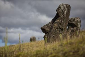 Moai Statue Quarry On Easter Island, Chile. Remote Volcanic Island In Polynesia by Karine Aigner